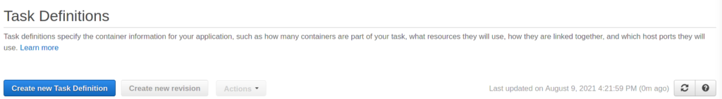 Task Definitions